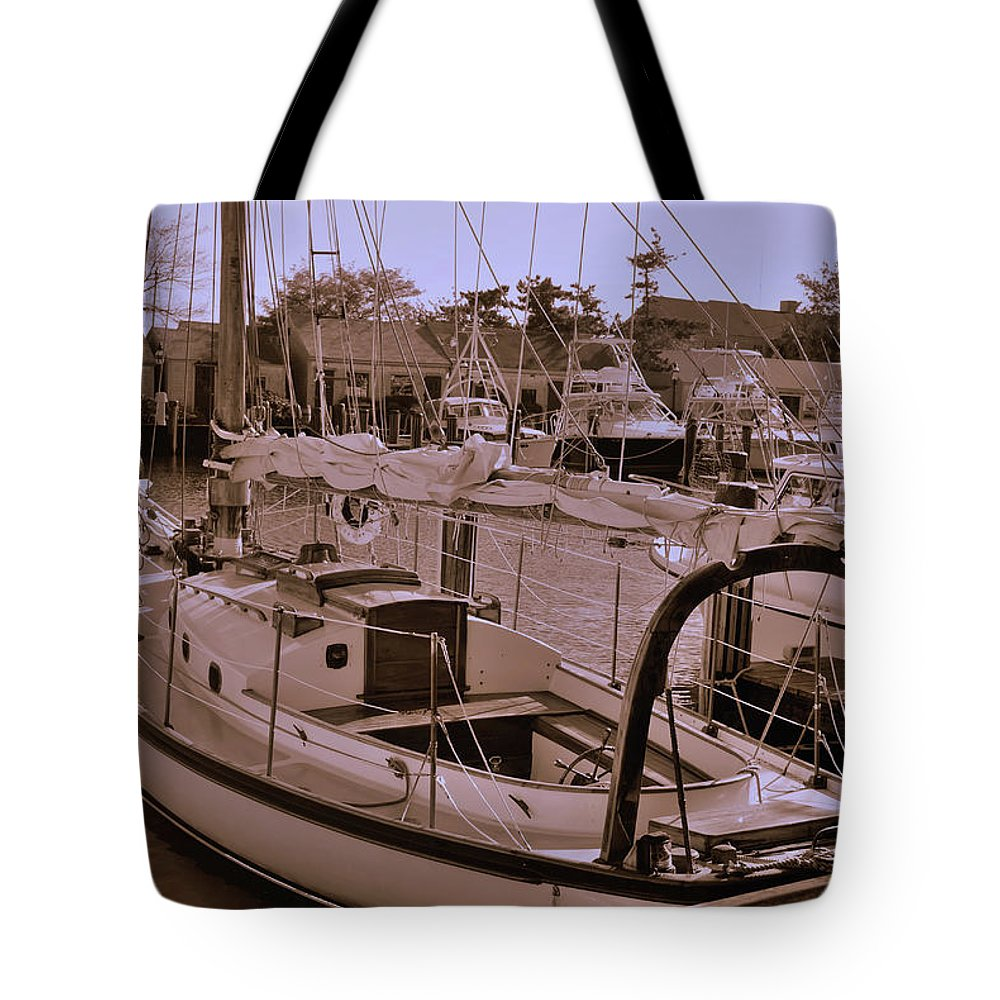 Boat Tote Bag featuring the photograph Sailing Anyone by Lori Tambakis