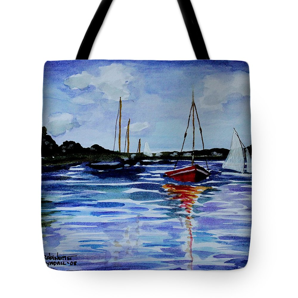 Sailing Tote Bag featuring the painting Sailing Day by Elizabeth Robinette Tyndall
