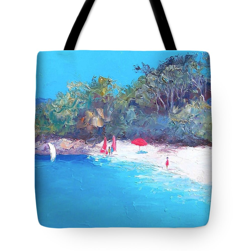 Sailing Tote Bag featuring the painting Sailing Day by Jan Matson