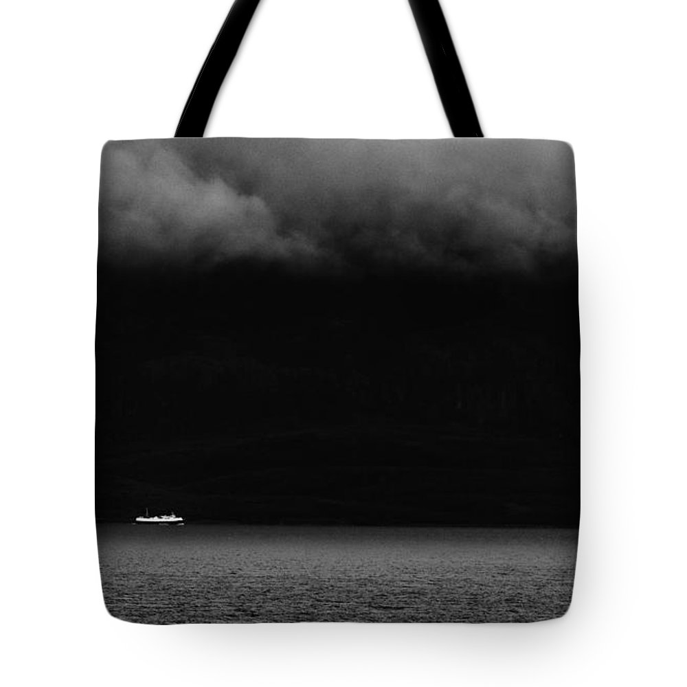 Norway Tote Bag featuring the photograph Sailing In The Shadows by Ole Klintebaek