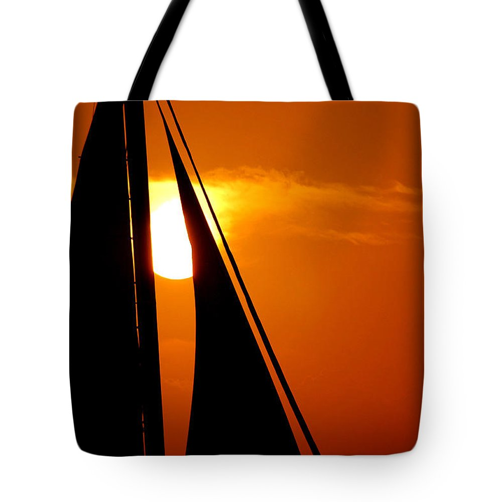 Photography Tote Bag featuring the photograph Sailing Into The Sunset by Susanne Van Hulst