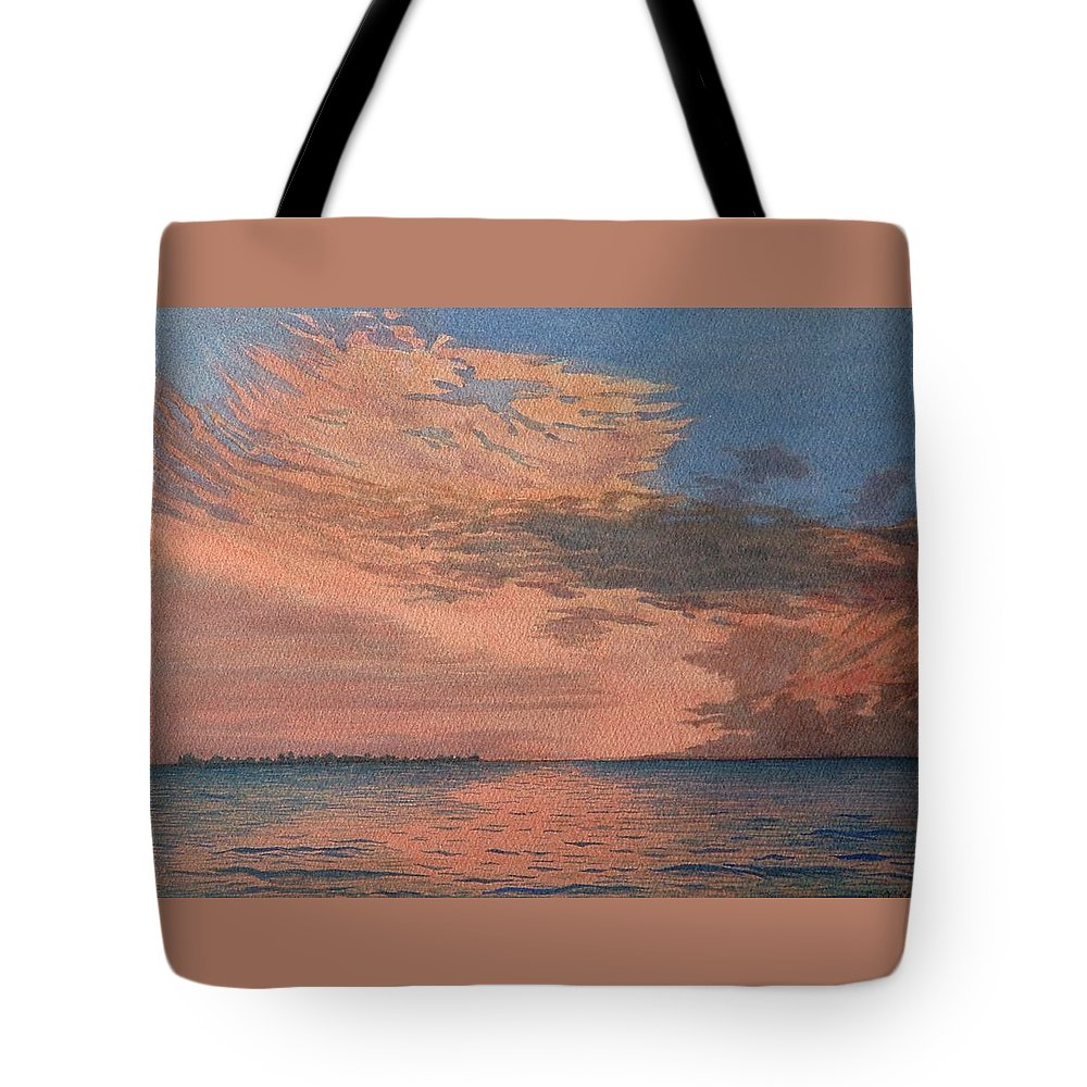 Landscape Tote Bag featuring the painting Sailors Delight by Lynn ACourt