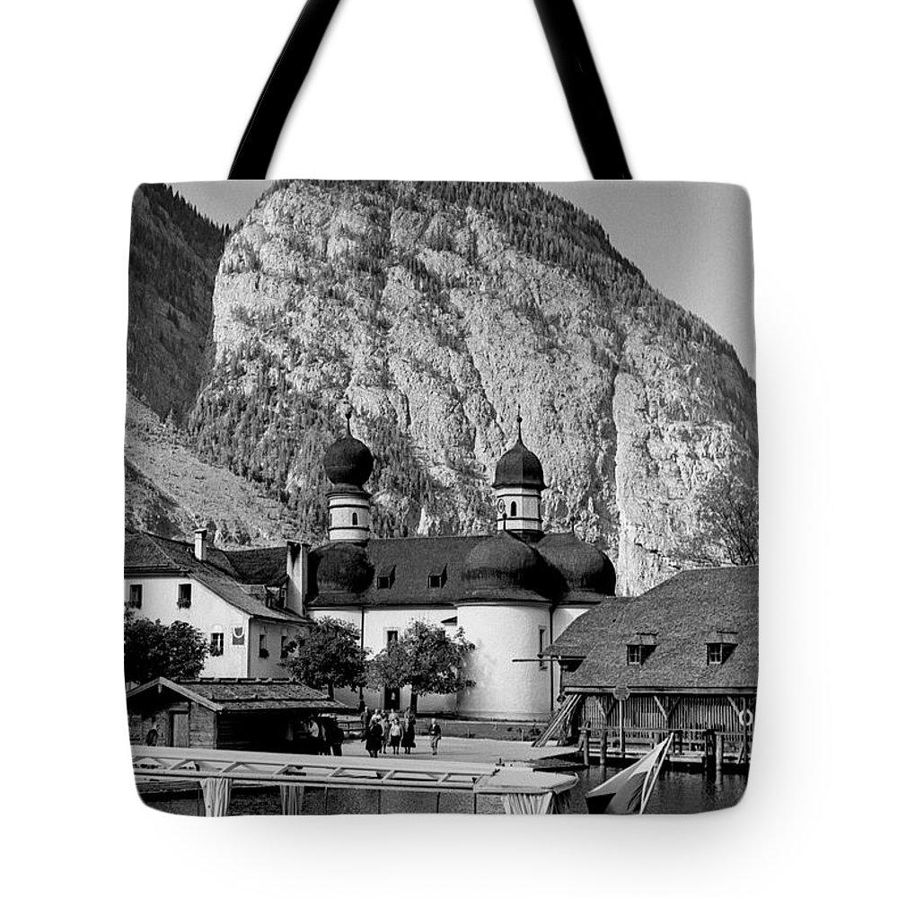 Bavaria Tote Bag featuring the photograph Saint Bartoloma On Konigssee Lake by Lee Santa