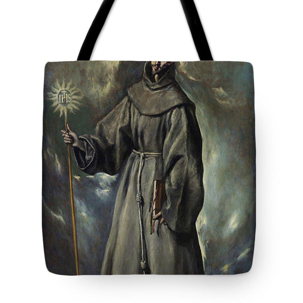 Bernard Tote Bag featuring the painting Saint Bernard by El Greco