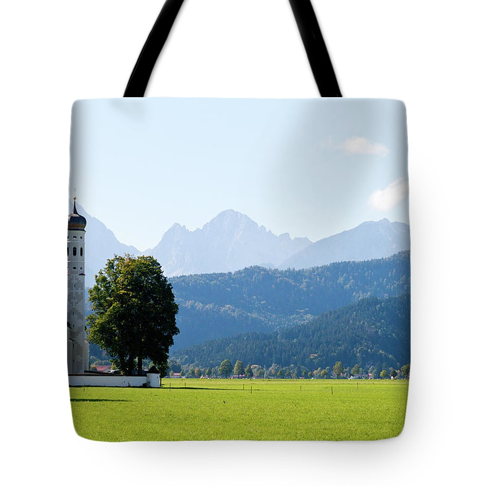 St. Tote Bag featuring the photograph Saint Coloman Church by Bernard Barcos