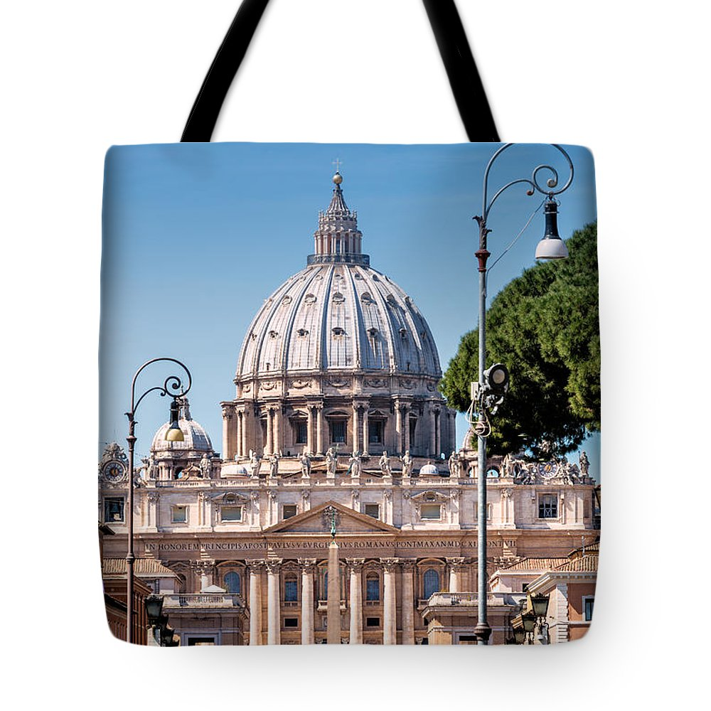 Basilica Tote Bag featuring the photograph Saint Peter's Tomb by Carsten Reisinger