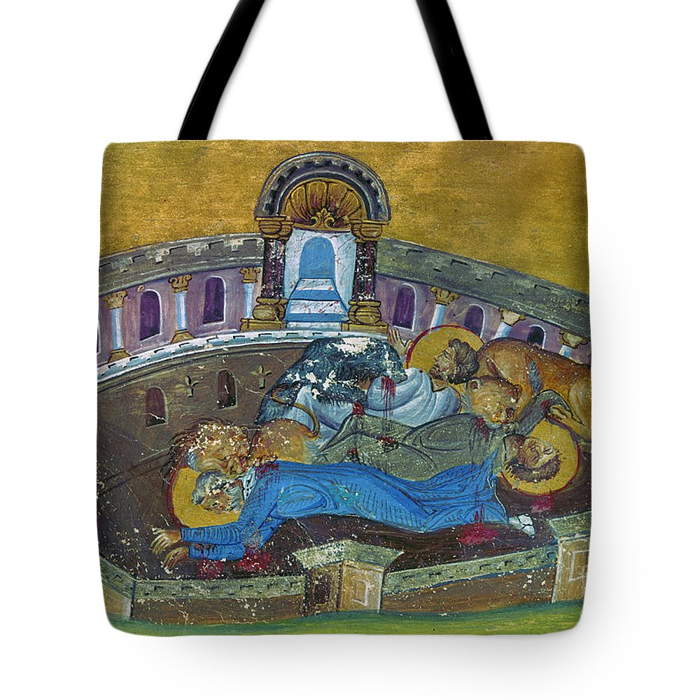 10th Century Tote Bag featuring the painting Saint Silvanus Of Emesa by Granger