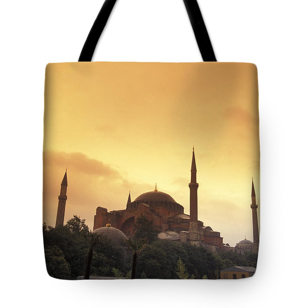 Istanbul Tote Bag featuring the photograph Saint Sophia Hagia Sophia At Sunset by Richard Nowitz