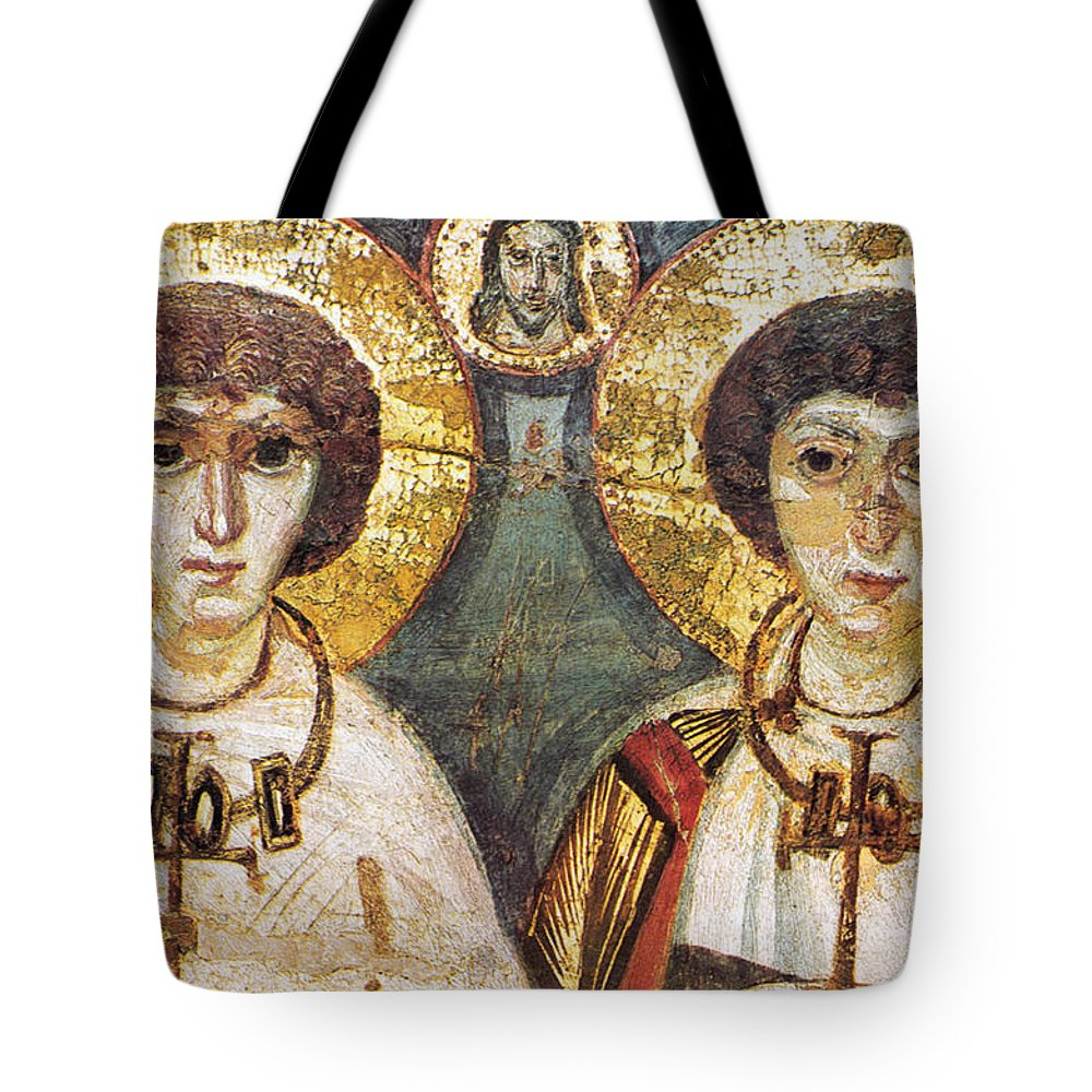 7th Century Tote Bag featuring the photograph Saints Sergius And Bacchus by Granger
