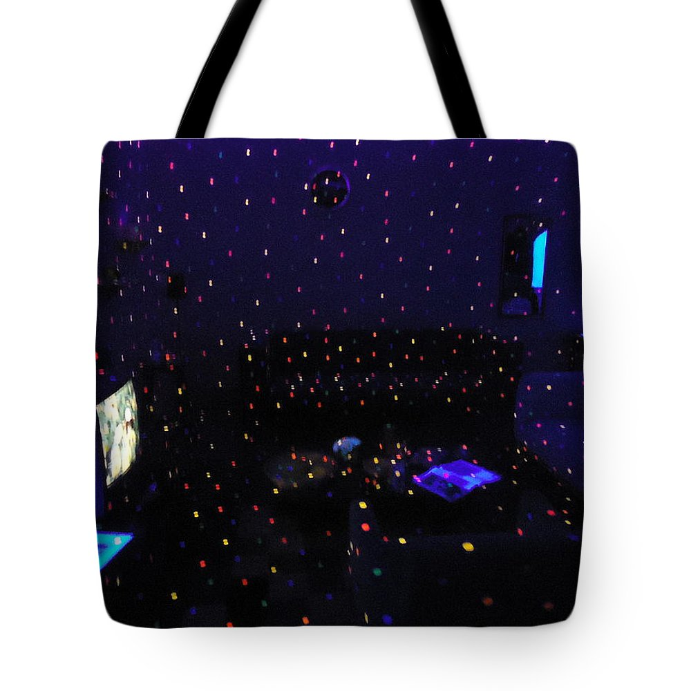 Colorful Tote Bag featuring the photograph Sala Em Efeito Discoteca by Cristiano Cavalcante