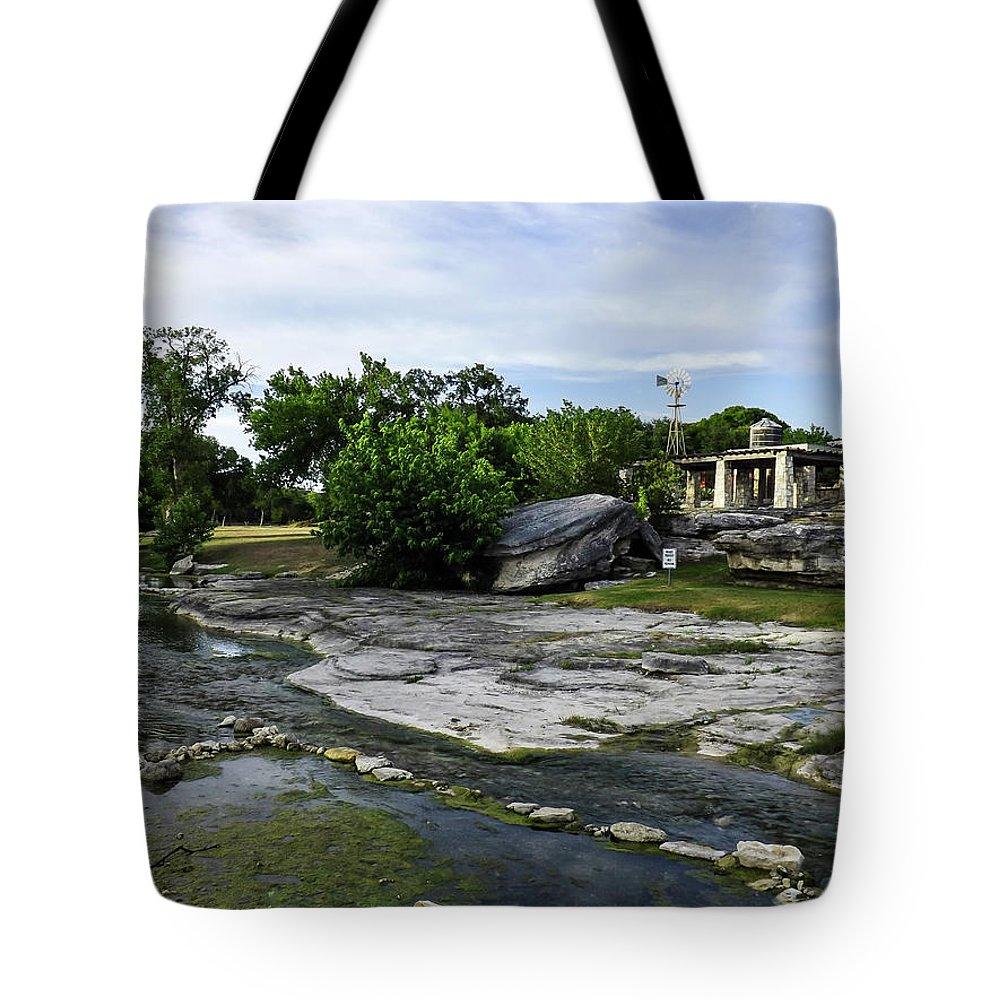 Salado Tote Bag featuring the photograph Salado Creek by Jeffrey Fuller