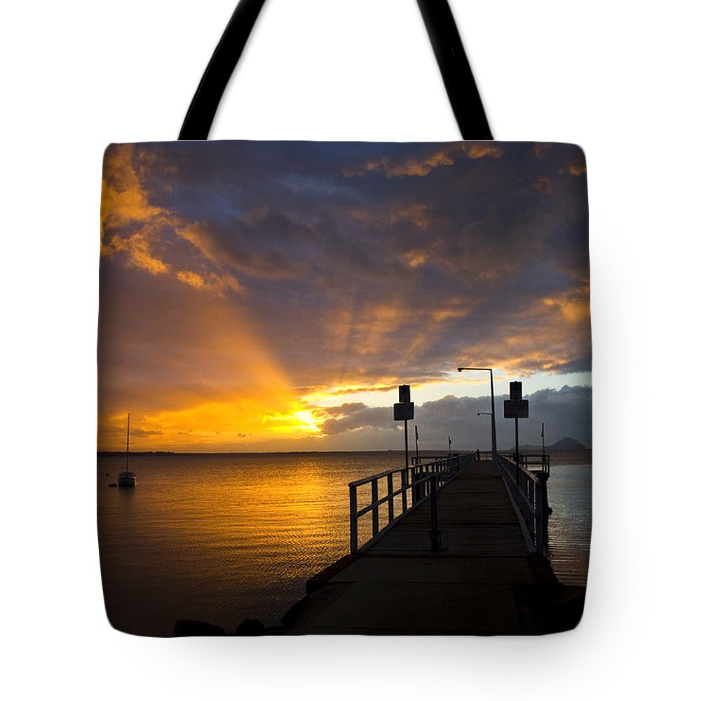 Sunrise Tote Bag featuring the photograph Salamander Bay Sunrise by Sheila Smart Fine Art Photography