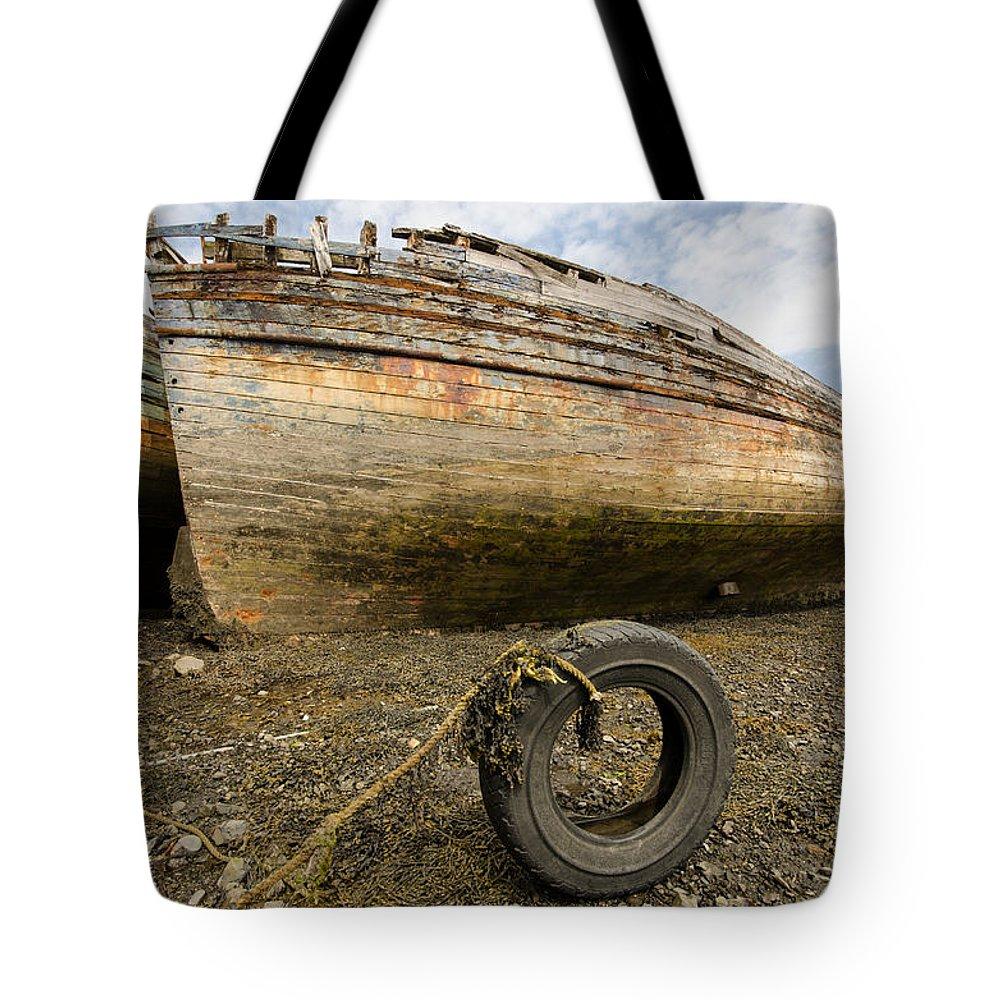 Salen Wrecks Tote Bag featuring the photograph Salen Wrecks by Smart Aviation