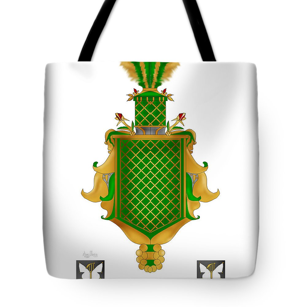Salkeld Family Crest Tote Bag featuring the painting Salkeld Family Crest by Anne Norskog