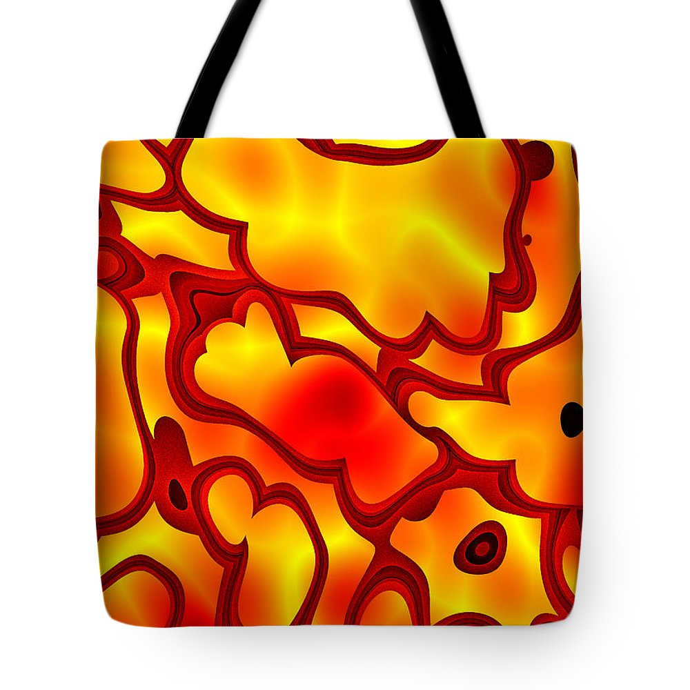 Art Tote Bag featuring the digital art Salpornis by Jeff Iverson