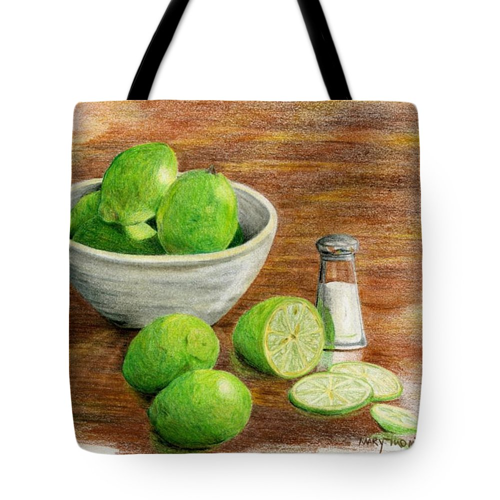 Fruit Tote Bag featuring the painting Salt And Lime by Mary Tuomi