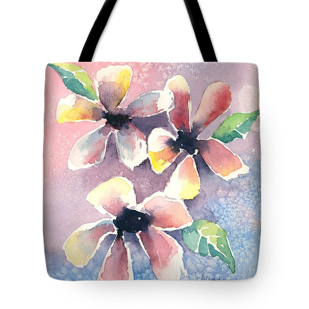Flowers Tote Bag featuring the painting Salt Flowers by Arline Wagner