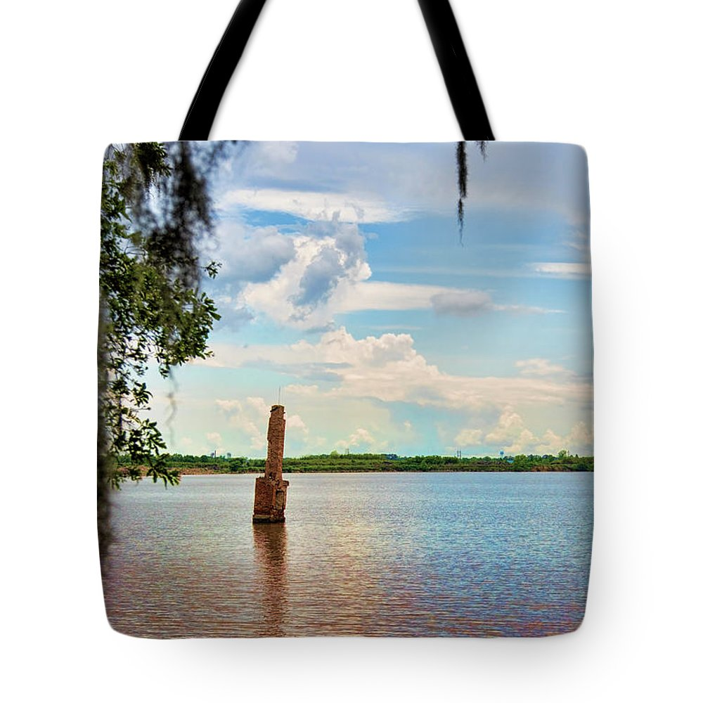 Landscape Tote Bag featuring the photograph Salt Mine Disactor Monument Jefferson Island Louisiana by Chuck Kuhn
