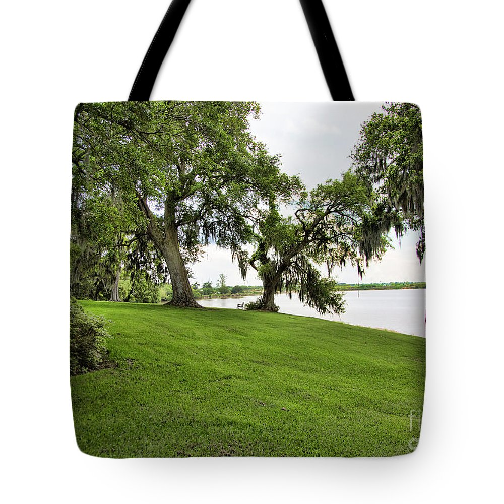 Landscape Tote Bag featuring the photograph Salt Mine Reminder Accident Louisiana by Chuck Kuhn