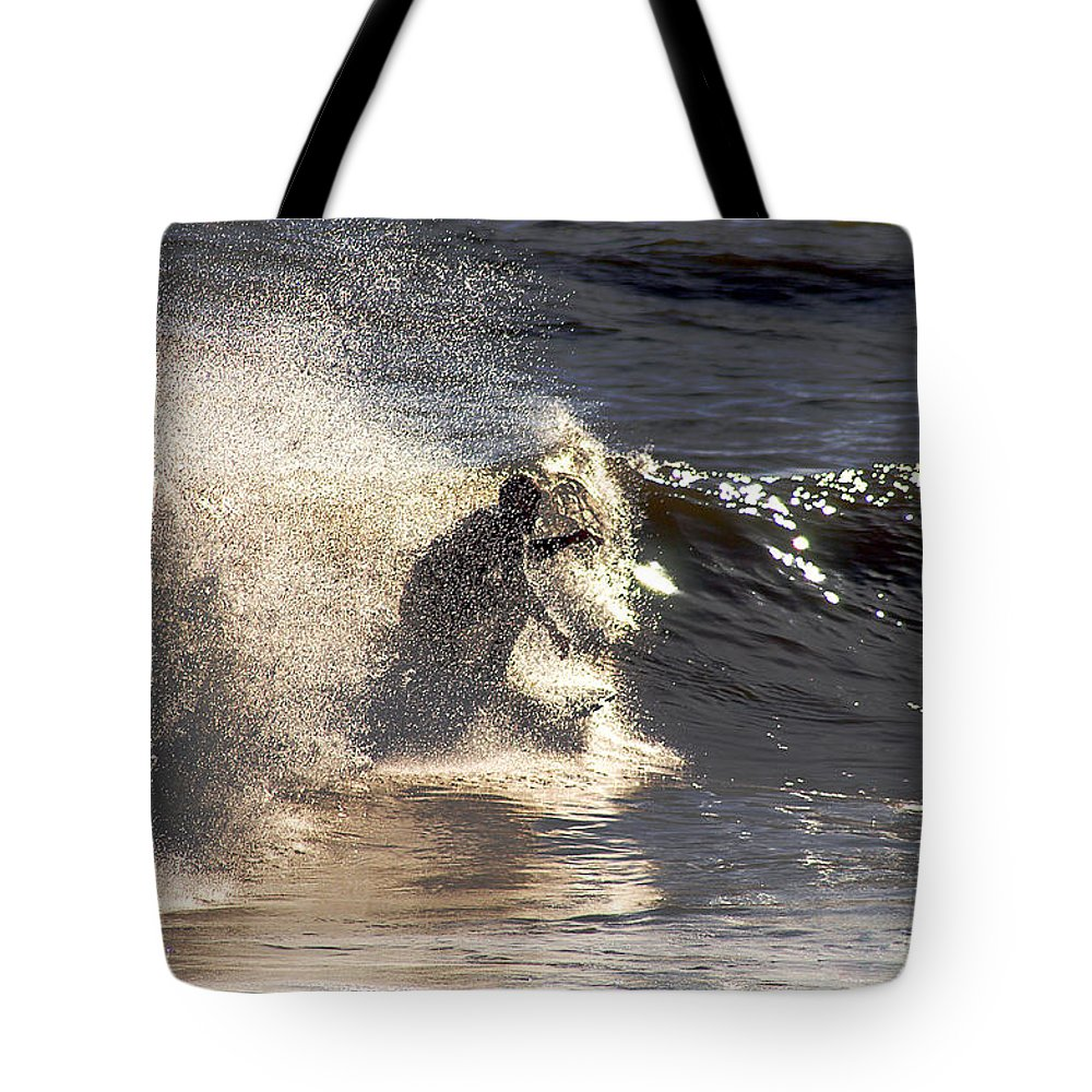 Clay Tote Bag featuring the photograph Salt Spray Surfing by Clayton Bruster