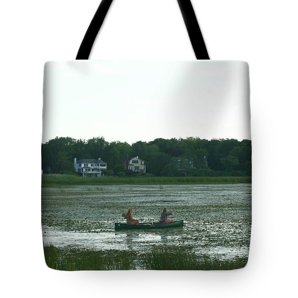 Photography Tote Bag featuring the photograph Salt Water Marsh by Barbara S Nickerson