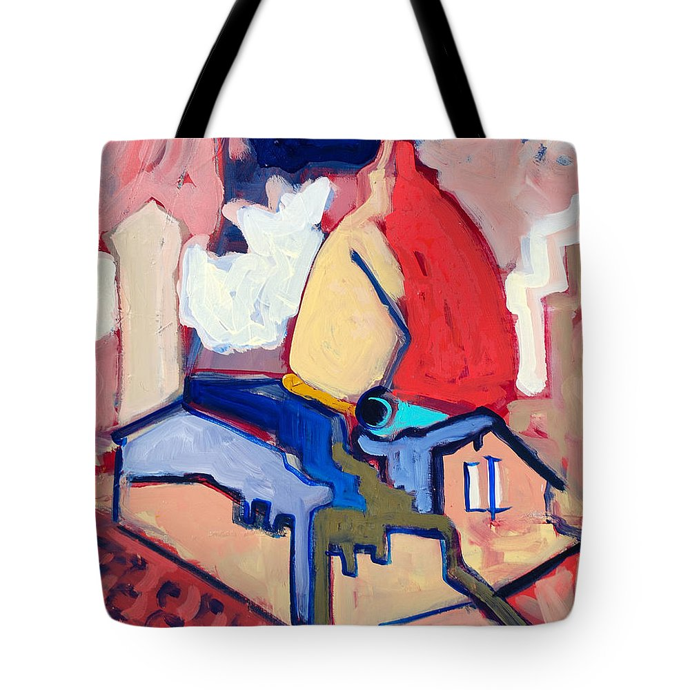 Florence Tote Bag featuring the painting Salutare by Kurt Hausmann