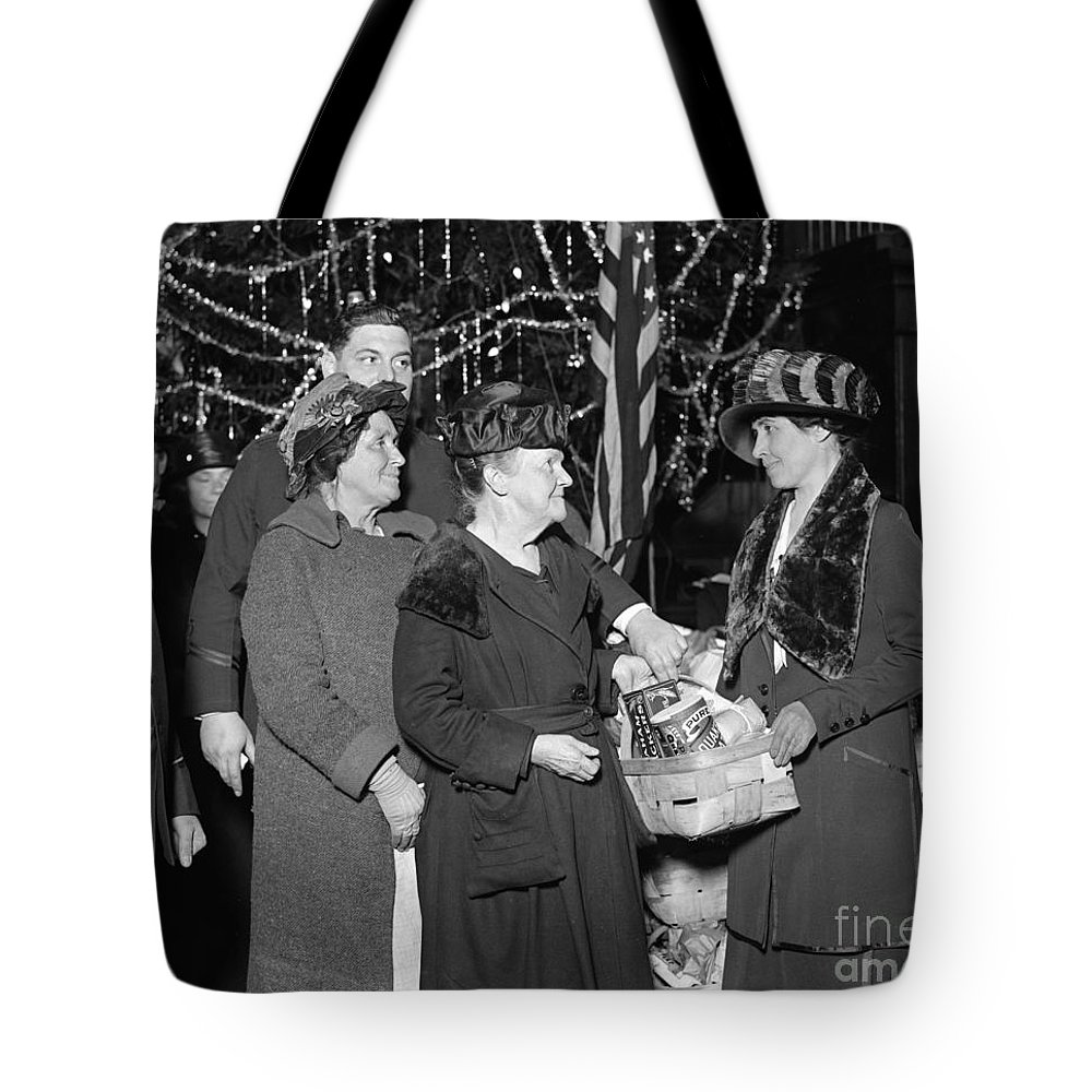 1923 Tote Bag featuring the photograph Salvation Army, 1923 by Granger