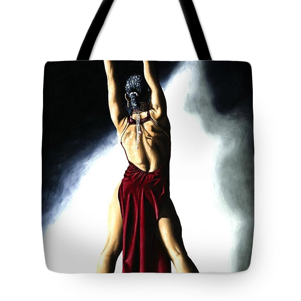 Samba Tote Bag featuring the painting Samba Celebration by Richard Young