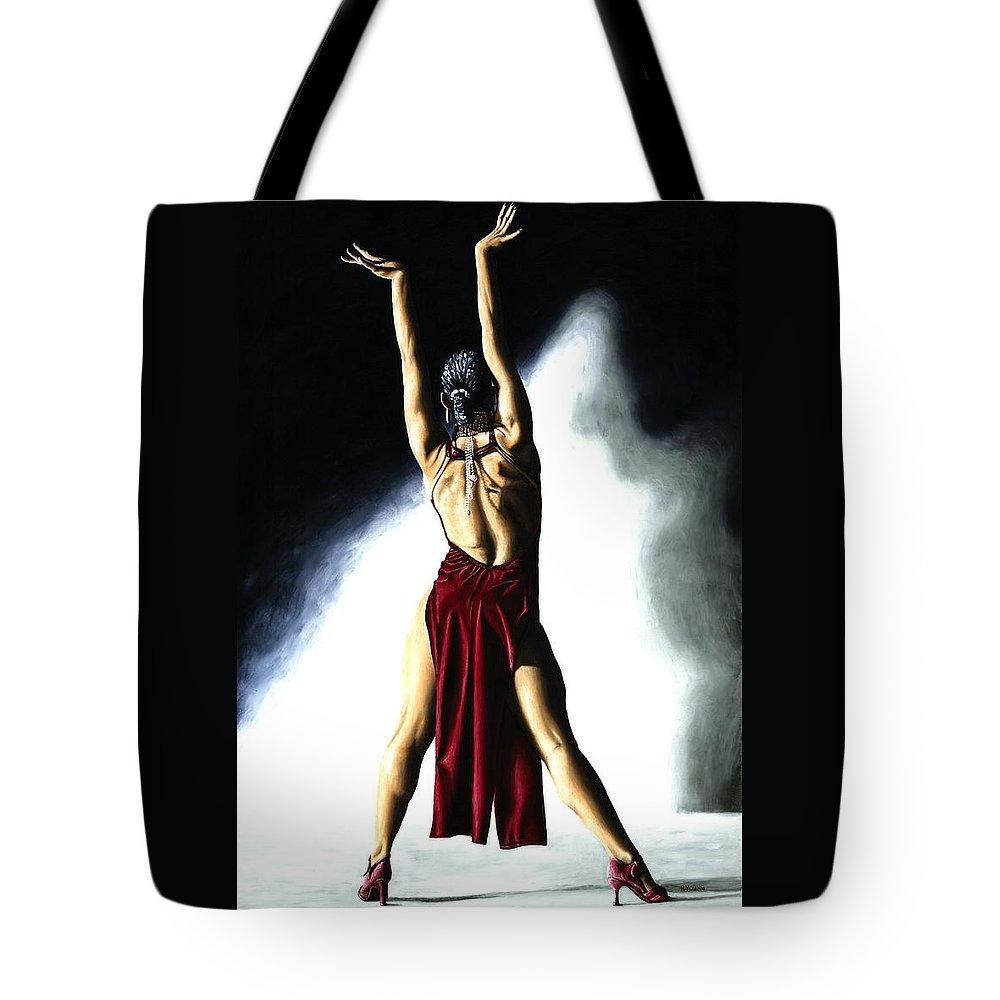 Samba Tote Bag featuring the painting Samba Celebration by Richard Young