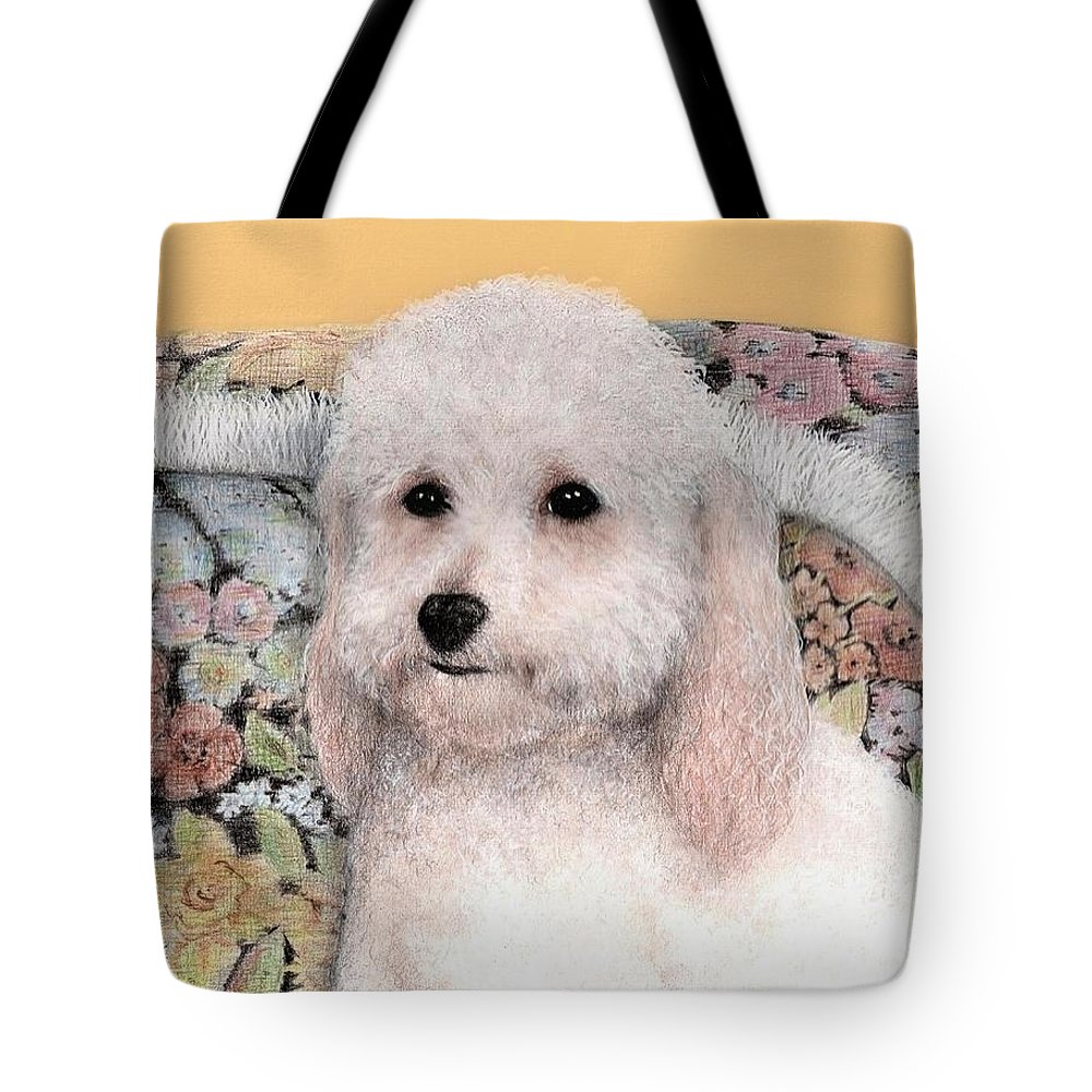 Dog Art Animals Bruce Lennon Tote Bag featuring the painting Sammy by Bruce Lennon