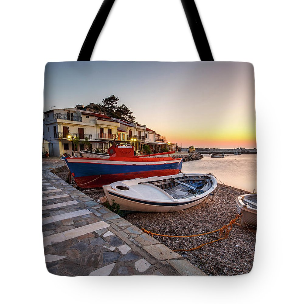 Europe Tote Bag featuring the photograph samos 'VIII by Milan Gonda