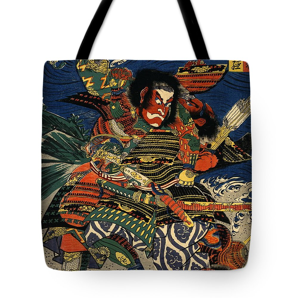 Samurai Warriors Battle 1819 Tote Bag featuring the photograph Samurai Warriors Battle 1819 by Padre Art