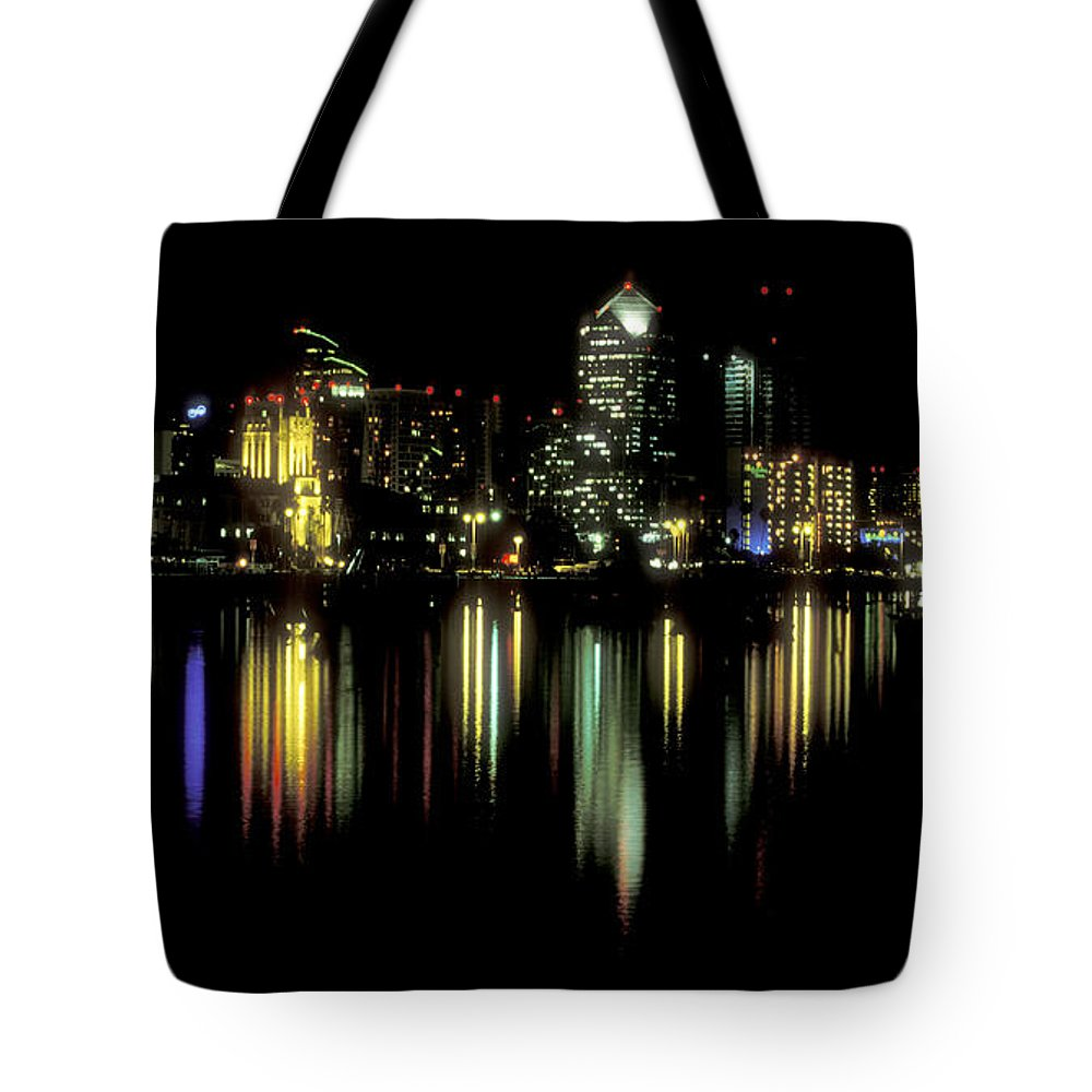 San Diego Skyline Tote Bag featuring the photograph San Diego Skyline by Sandra Bronstein