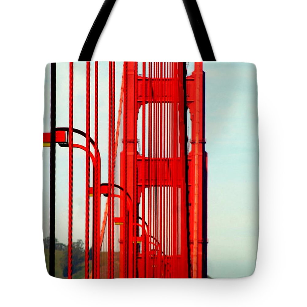 America Tote Bag featuring the photograph San Francisco Golden Gate Bridge Symphony In California by Michael Hoard