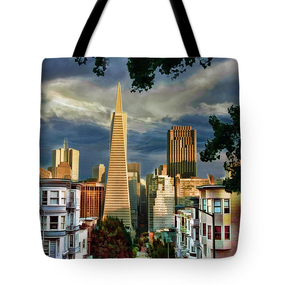 Art Photography Tote Bag featuring the photograph San Francisco Cliff by Blake Richards