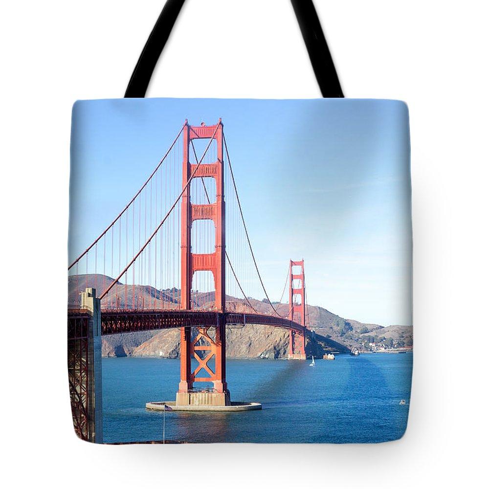San Francisco Tote Bag featuring the photograph San Francisco's Golden Gate Bridge by G Matthew Laughton