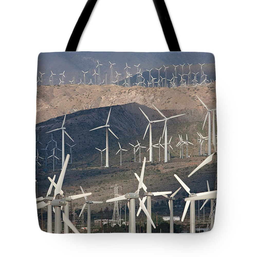 Clarence Holmes Tote Bag featuring the photograph San Gorgonio Pass Wind Farm I by Clarence Holmes