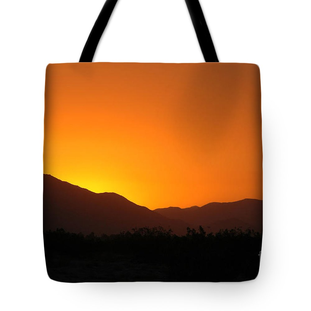Sunset Tote Bag featuring the photograph San Jacinto Dusk Near Palm Springs by Michael Ziegler