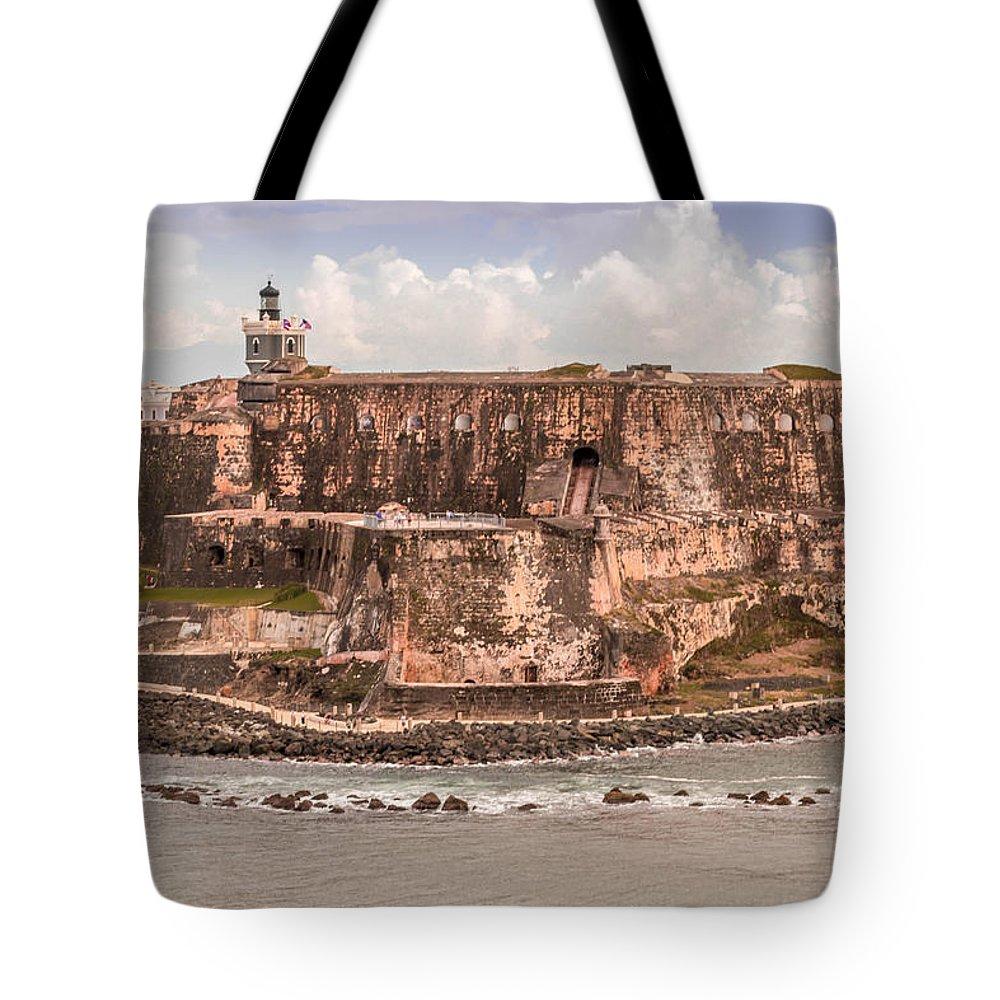 San Juan Fort Tote Bag featuring the photograph San Juan Puerto Rico Fort by Samuel Gibbs