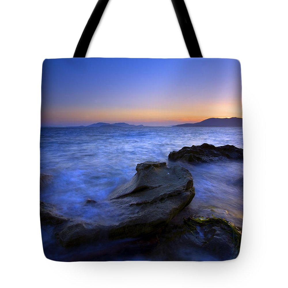Sunset Tote Bag featuring the photograph San Juan Sunset by Mike Dawson