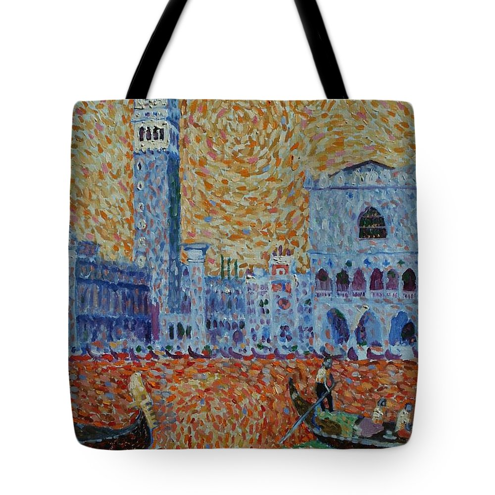 San Marco Tote Bag featuring the painting San Marco by John A B Lansdown