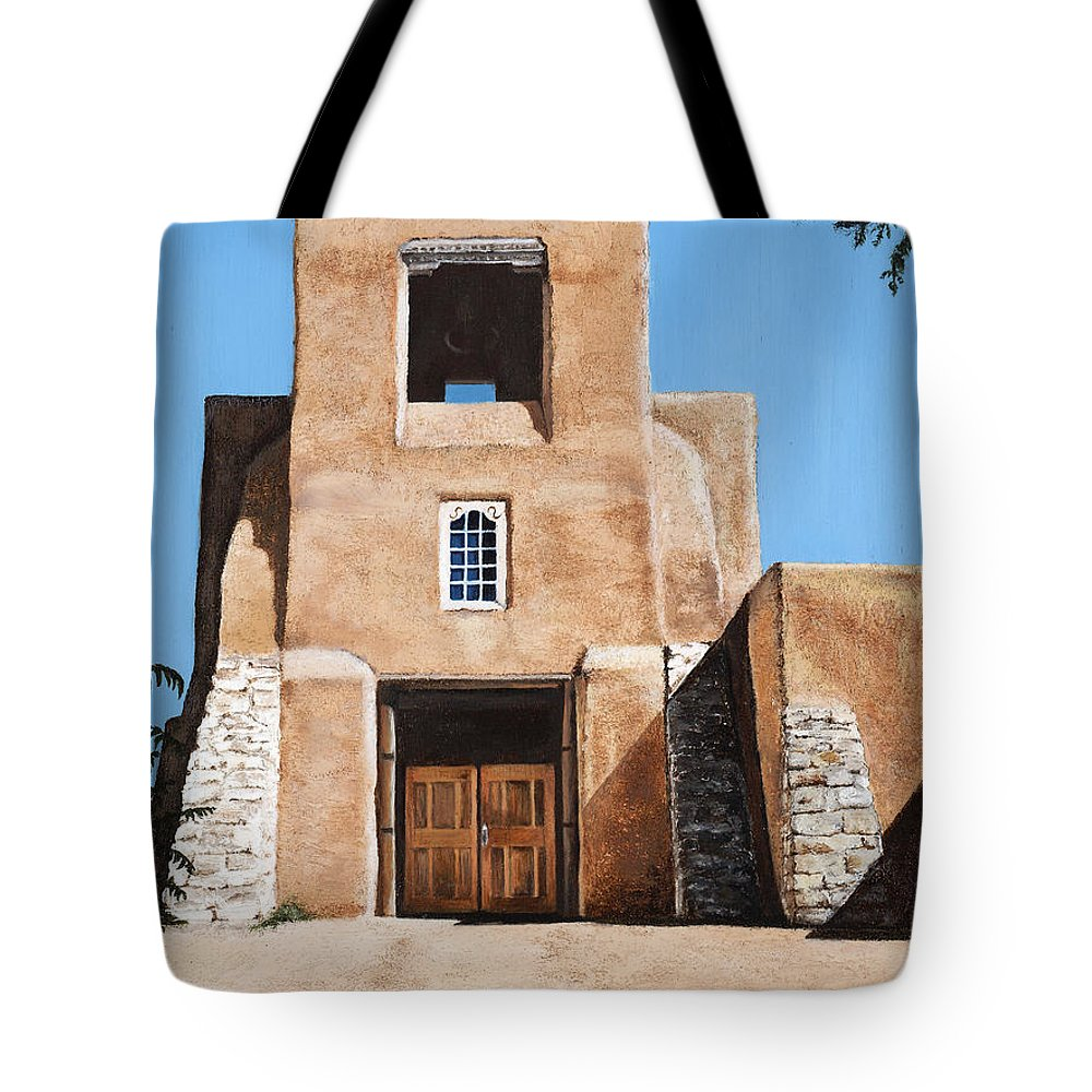 Art Tote Bag featuring the painting San Miguel by Mary Rogers