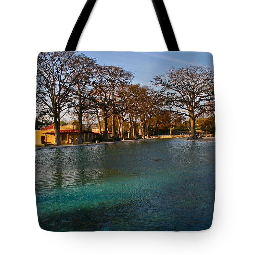 San Pedro Park Tote Bag featuring the photograph San Pedro Park by Roam Images