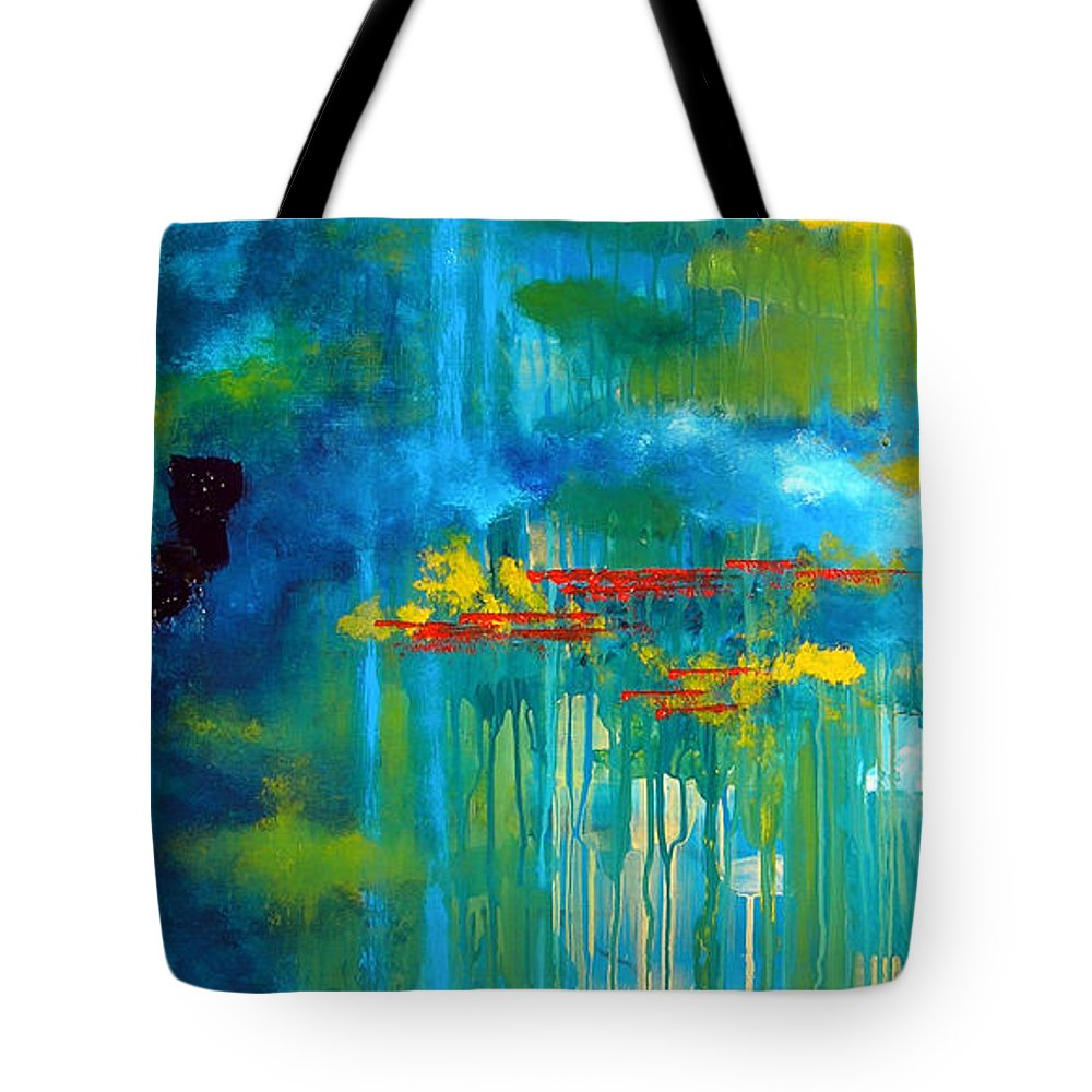 Abstract Painting Tote Bag featuring the painting Sanctuary Abstract Painting by Patricia Awapara