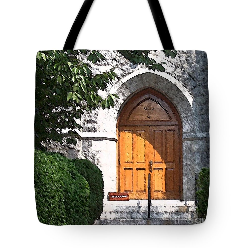 Church Tote Bag featuring the photograph Sanctuary by Debbi Granruth