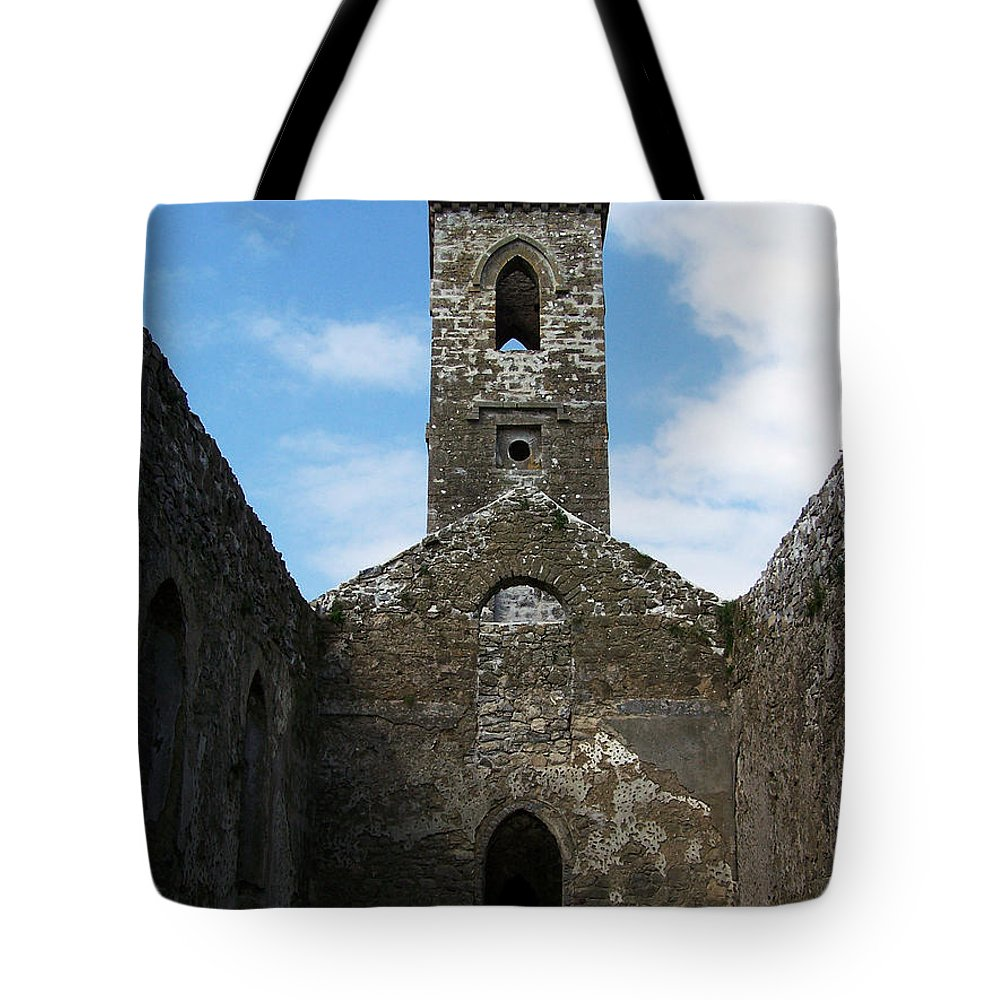 Ireland Tote Bag featuring the photograph Sanctuary Fuerty Church Roscommon Ireland by Teresa Mucha