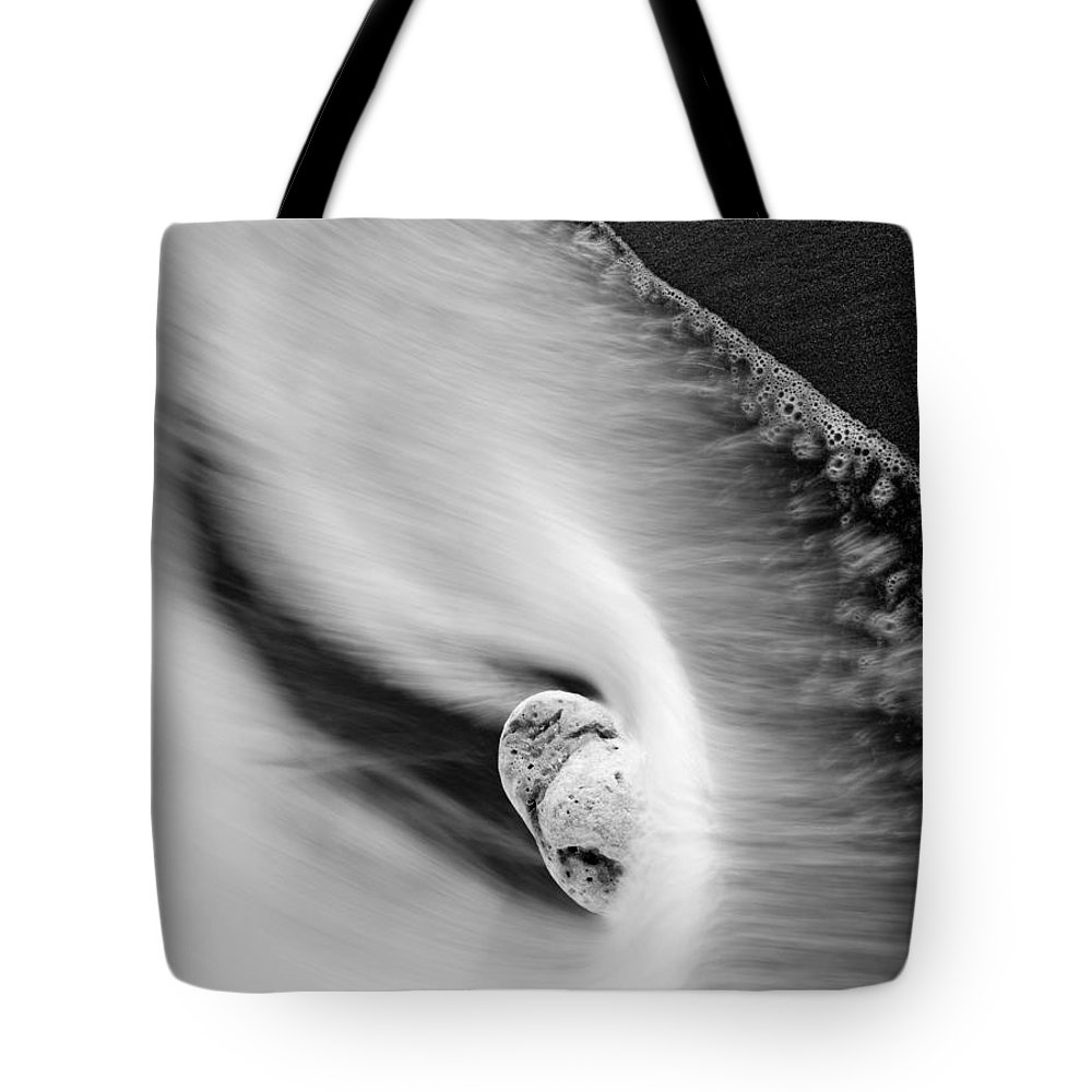 Rock Tote Bag featuring the photograph Sand And Sea by Mike Dawson