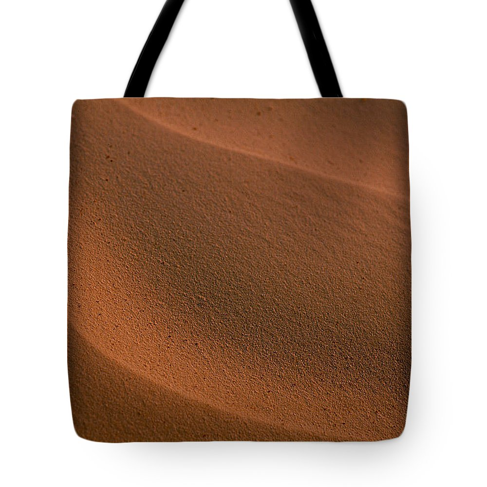Shara Tote Bag featuring the photograph Sand Curves by Michael Mogensen
