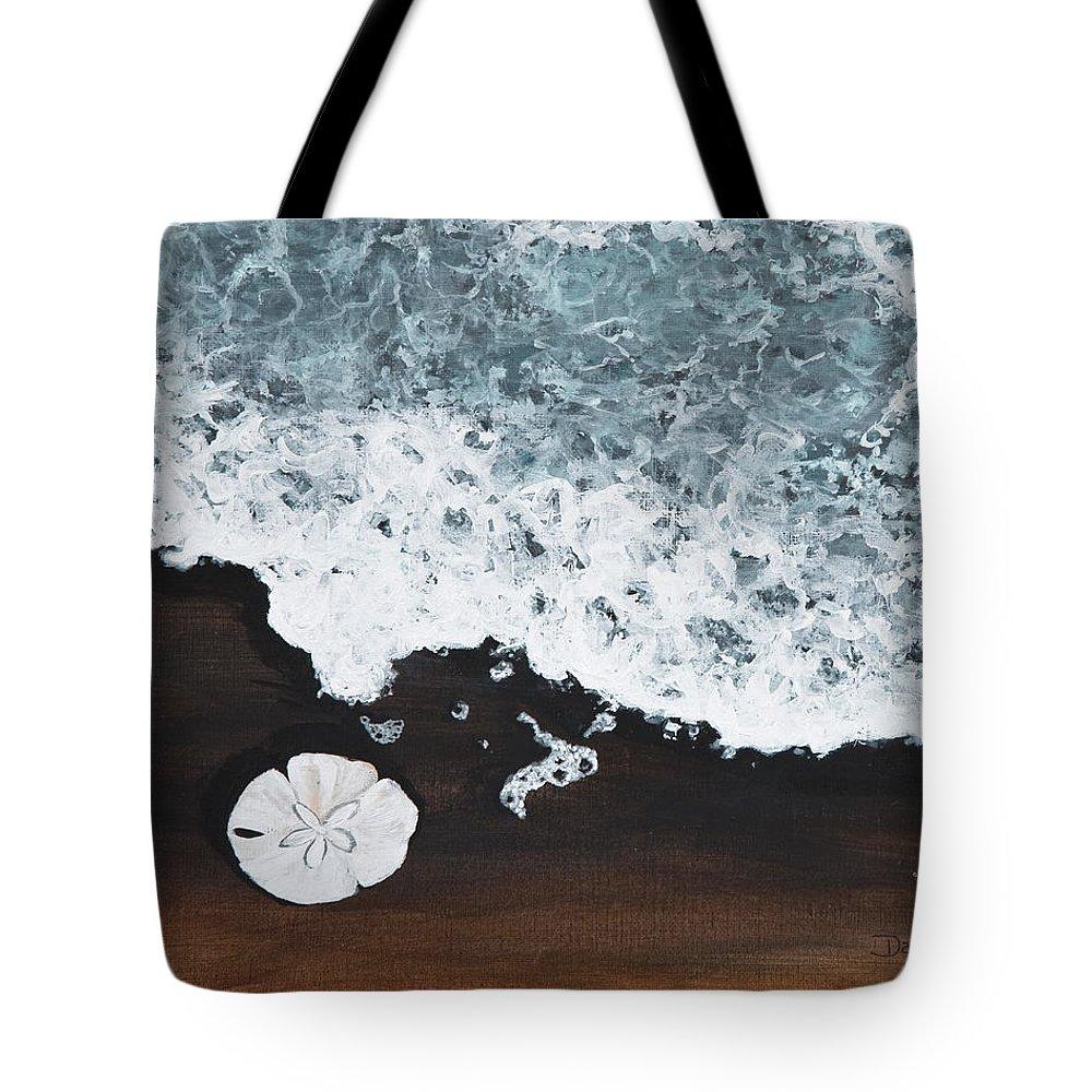 Darice Machel Mcguire Tote Bag featuring the painting Sand Dollar by Darice Machel McGuire