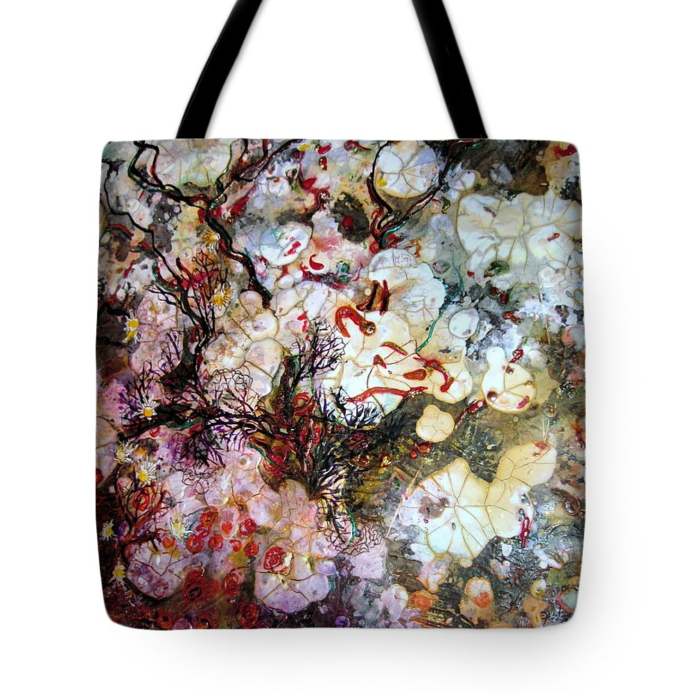 Oceanlife Tote Bag featuring the mixed media Sand Dollars by Cheryl Ehlers